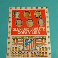 Pegatinas de colección: PEGATINA CLUB ATLÉTICO DE MADRID. FORMATO 11 X 15 CM. Lote 138563818