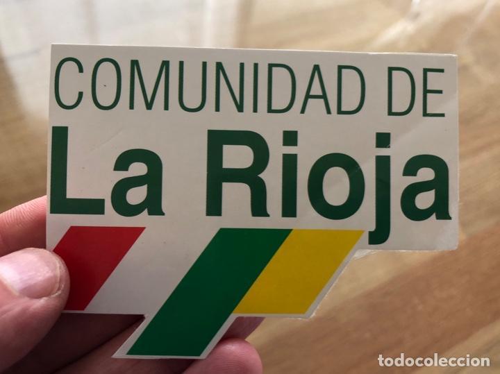 LA RIOJA PEGATINA AÑOS 90 ADHESIVO (Coleccionismos - Pegatinas)