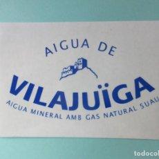Pegatinas de colección: PEGATINA AGUA DE VILAJUÏGA . Lote 139249358