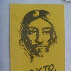Pegatinas de colección: PEGATINA DE CRISTO VIVE, AÑOS 70. Lote 139908846