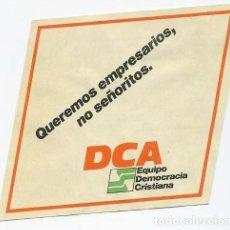 Pegatinas de colección: PEGATINA DCA ANDALUCIA DEMOCRACIA CRISTIANA. Lote 139914962