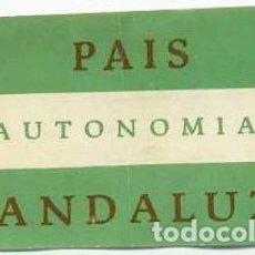Pegatinas de colección: PEGATINA PSA PARTIDO SOCIALISTA DE ANDALUCIA. Lote 139914986