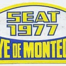 Pegatinas de colección: PEGATINA RALLYE SEAT 1977 DE MONTECARLO. Lote 139915010