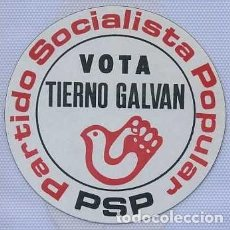 Pegatinas de colección: PEGATINA PSP TIERNO GALVAN PARTIDO SOCIALISTA POPULAR. Lote 139915222