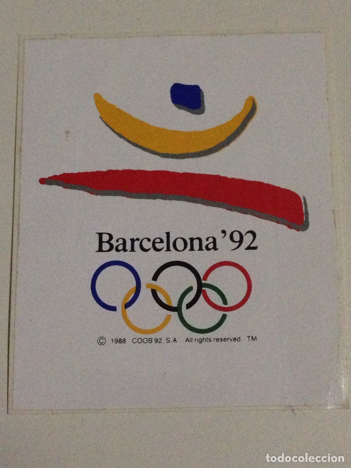 Pegatina Juegos Olimpicos Barcelona 92 Comprar Pegatinas Antiguas