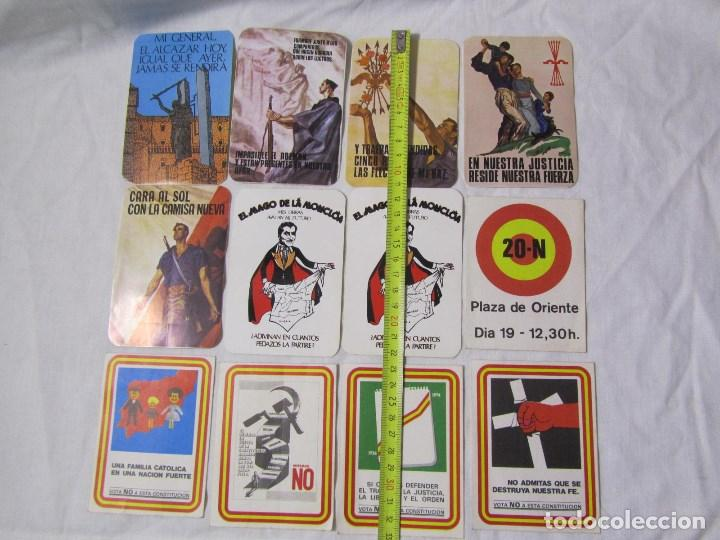Pegatinas de colección: 12 pegatinas, constitución no, falange, etc - Foto 2 - 140179866