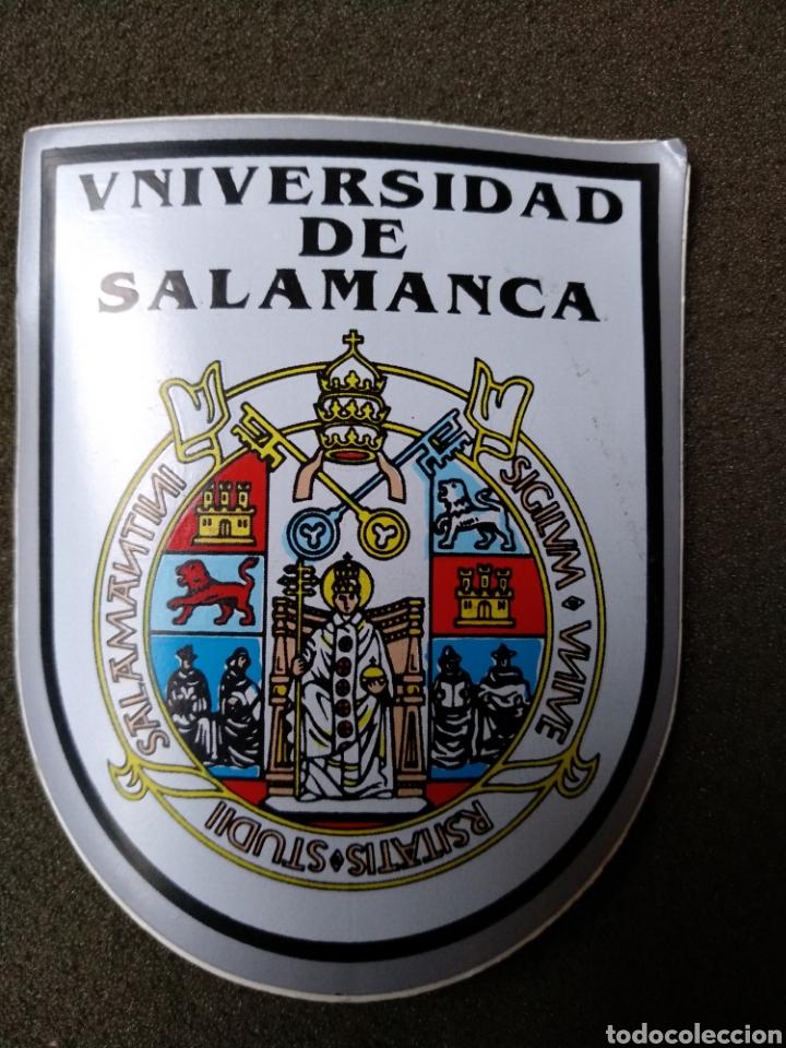 PEGATINA ESCUDO DE LA UNIVERSIDAD DE SAMANCA (Coleccionismos - Pegatinas)