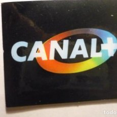Autocollants de collection: PEGATINA CANAL PLUS TV. Lote 140573434