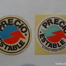 Pegatinas de colección: PEGATINA COMERCIAL PRECIO ESTABLE TIENDA LOTE 2 PEGATINAS. Lote 142420886