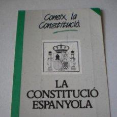 Pegatinas de colección: PEGATINA, PEGATINAS, ADHESIVO, ADHESIVOS GENERALITAT VALENCIANA CONSTITUCIÓ ESPANYOLA ANYS 80. Lote 245742560