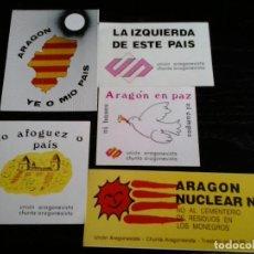 Pegatinas de colección: PEGATINA POLITICA ARAGON . Lote 143411506