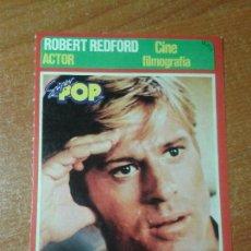 Autocolantes de coleção: PEGATINA. FICHAS DE LOS FAMOSOS SUPERPOP. ROBERT REDFORD. Lote 144509850