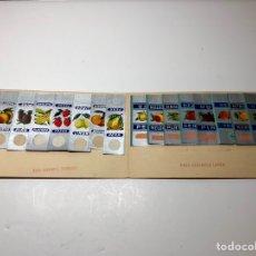 Pegatinas de colección: 30 ENVOLTORIOS ANTIGUOS CARAMELOS FRUTAS PLATA. Lote 144655197