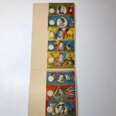 Pegatinas de colección: 10 ENVOLTORIOS ANTIGUOS CARAMELOS HOMBRES CÉLEBRES. Lote 144656760
