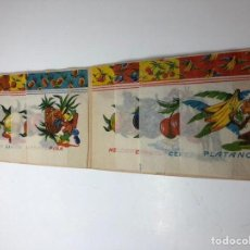 Pegatinas de colección: 8 ENVOLTORIOS ANTIGUOS CARAMELOS ZOO FRUTAS. Lote 144660528