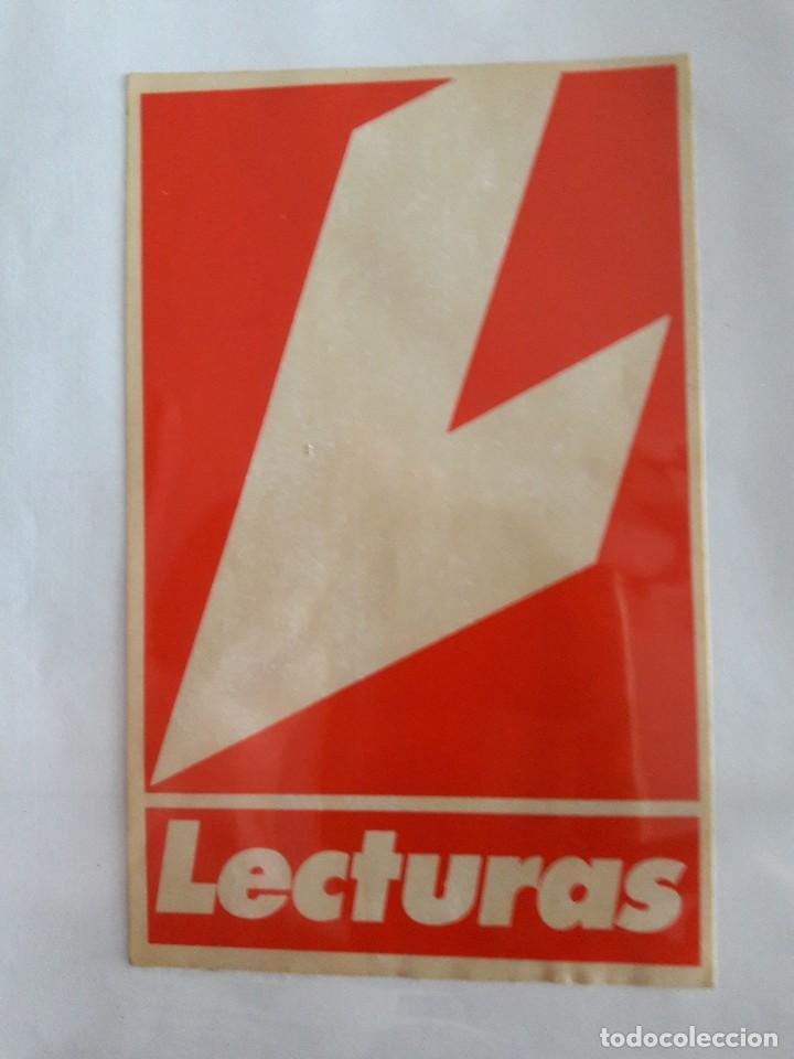 PEGATINA DE PUBLICIDAD REVISTA LECTURAS. (Coleccionismos - Pegatinas)