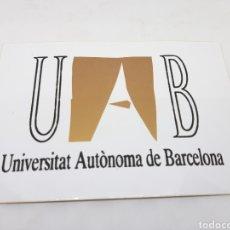 Pegatinas de colección: PEGATINA UNIVERSITAT AUTÒNOMA DE BARCELONA. Lote 145859496