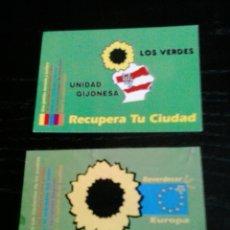 Pegatinas de colección: PEGATINA POLITICA VERDES ELECCIONES. Lote 147348678