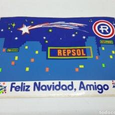 Pegatinas de colección: REPSOL FELIZ NAVIDAD AMIGO. Lote 147648204