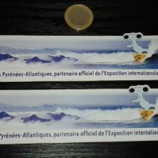 Pegatinas de colección: -PEGATINA EXPO ZARAGOZA 2008 X2. Lote 148092970