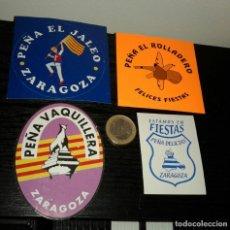 Pegatinas de colección: -PEGATINA PEÑAS DE ZARAGOZA . Lote 148093118