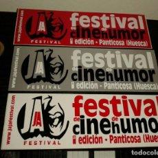 Pegatinas de colección: -PEGATINA FESTIVAL JAJA DE CINE DE HUMOR - PANTICOSA ( HUESCA ) X3 . Lote 148093478