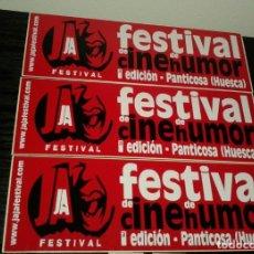 Pegatinas de colección: -PEGATINA FESTIVAL JAJA DE CINE DE HUMOR - PANTICOSA ( HUESCA ) X3 . Lote 148093578