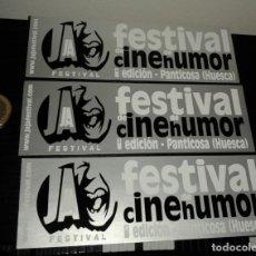 Pegatinas de colección: -PEGATINA FESTIVAL JAJA DE CINE DE HUMOR - PANTICOSA ( HUESCA ) X3 . Lote 148093646