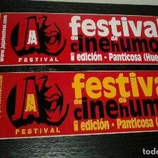 Pegatinas de colección: -PEGATINA FESTIVAL JAJA DE CINE DE HUMOR - PANTICOSA ( HUESCA ) X2. Lote 148093710
