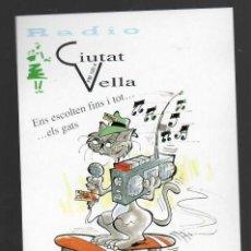 Pegatinas de colección: RADIO CIUTAT VELLA - ENS ENSCOLTEN FINS I TOT... ELS GATS - ASSOCIACIÓ DE VEÏNS DE EL RAVAL . Lote 148230778