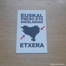 Autocollants de collection: PEGATINA VASCA PRESOAK ETXERA. EUSKADI, POLÍTICA, MOVIMIENTO POPULAR, AMNISTÍA. Lote 148312550