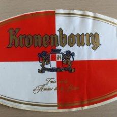 Pegatinas de colección: PEGATINA CERVEZA KRONENBOURG. Lote 148545653
