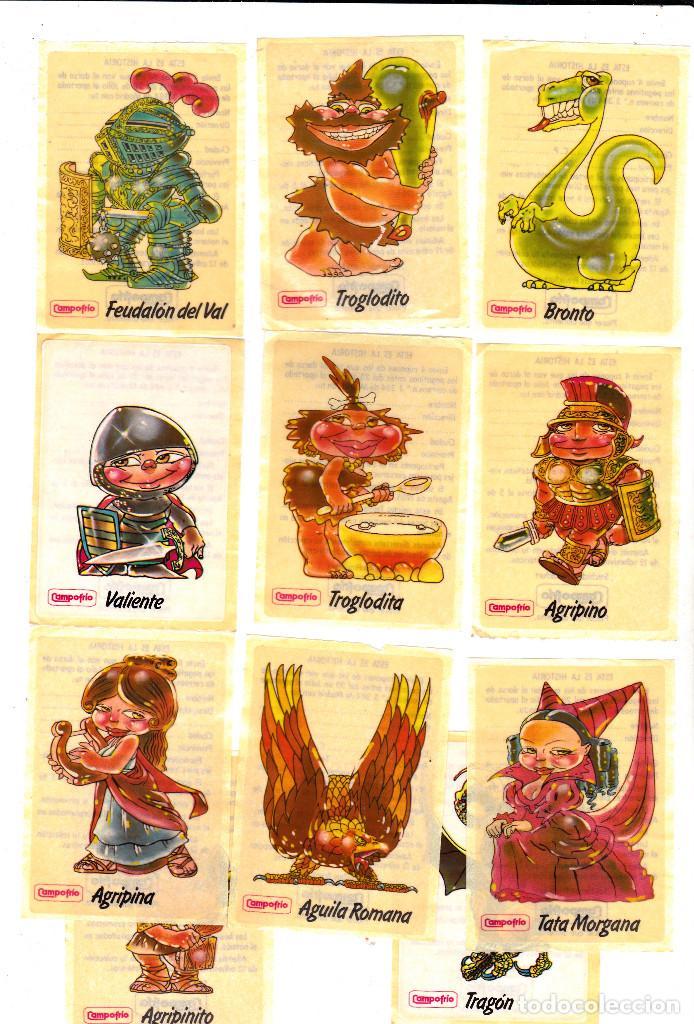 PEGATINAS CAMPOFRIO 11 DE 12 1985 (SIN PEGAR) (Coleccionismos - Pegatinas)