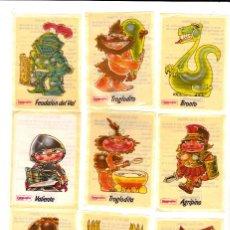 Pegatinas de colección: PEGATINAS CAMPOFRIO 11 DE 12 1985 (SIN PEGAR). Lote 148602674