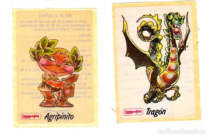 Pegatinas de colección: Pegatinas CAMPOFRIO 11 DE 12 1985 (SIN PEGAR) - Foto 2 - 148602674