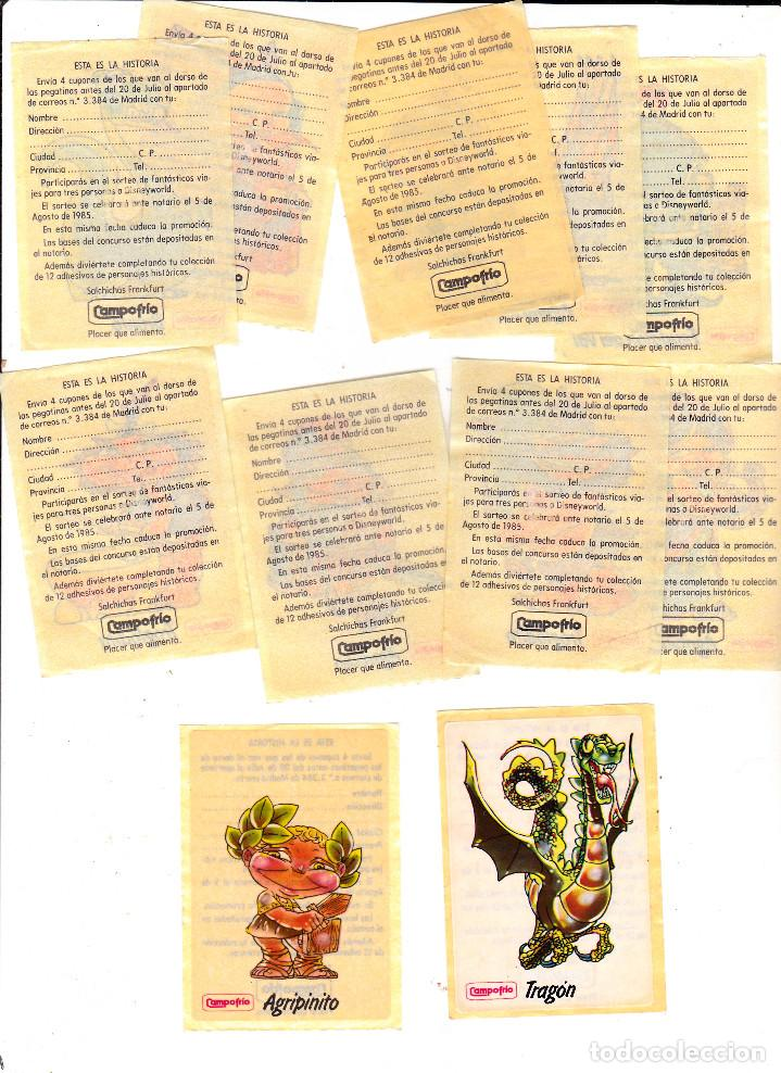 Pegatinas de colección: Pegatinas CAMPOFRIO 11 DE 12 1985 (SIN PEGAR) - Foto 3 - 148602674