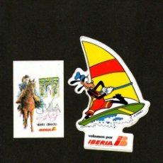 Pegatinas de colección: LOTE DOS PEGATINAS IBERIA. Lote 148670394