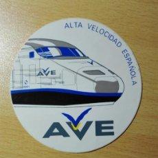 Autocolantes de coleção: PEGATINA ADHESIVO - AVE - RENFE ALTA VELOCIDAD - TREN FERROCARRIL. Lote 194644015
