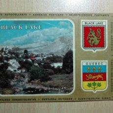 Autocolantes de coleção: PEGATINA ADHESIVO - POSTAL ADHESIVA - CANADA BLACK LAKE QUEBEC. Lote 149530910