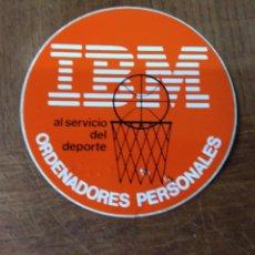 Pegatinas de colección: IBM, ORDENADORES PERSONALES- AL SERVICIO DEL DEPORTE - PEGATINA BASKET BALONCESTO. Lote 150247098
