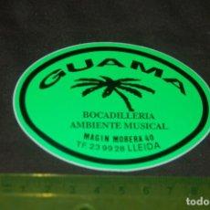 Pegatinas de colección: PEGATINA GUAMA BAR. Lote 150278486