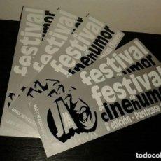 Pegatinas de colección: -PEGATINA FESTIVAL DE CINE DE HUMOR - PANTICOSA HUESCA - X5 PLATEADA. Lote 151172250