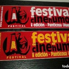 Pegatinas de colección: -PEGATINA FESTIVAL DE CINE DE HUMOR - PANTICOSA HUESCA - X 2. Lote 151172358