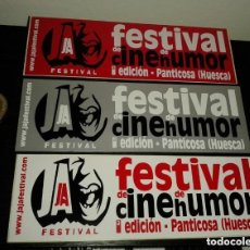 Pegatinas de colección: -PEGATINA FESTIVAL DE CINE DE HUMOR - PANTICOSA HUESCA - X 3. Lote 151172422