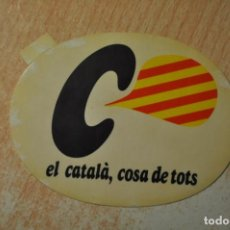 Pegatinas de colección: EL CATALA COSA DE TOTS. Lote 151295106