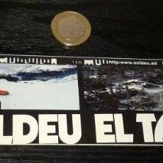 Pegatinas de colección: -PEGATINA SKI ANDORRA . SOLDEU EL TARTER. Lote 151306910