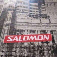 Pegatinas de colección: ANTIGUA PEGATINA ADHESIVO SALOMON 9.7X1.7CM. Lote 151888625