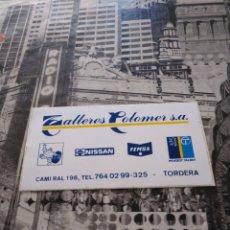 Pegatinas de colección: ANTIGUA PEGATINA ADHESIVO TALLERES COLOMER S.A. TORDERA 11X5.8CM. Lote 151890186