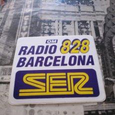 Pegatinas de colección: ANTIGUA PEGATINA ADHESIVO RADIO BARCELONA SER 828 , 10X9CM. Lote 151892724