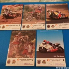 Pegatinas de colección: LOTE 5 PEGATINAS MOTOS CONSEJOS DGT + CRIVILLE TORRONTERAS COLOMER CARDOSO. Lote 152046345